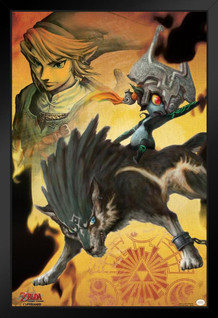 Midna The Legend of Zelda Twilight Princess Nintendo High Fantasy Video Game Series Framed Poster 12x18 inch