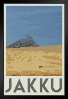 Jakku Movie Fantasy Travel Framed Poster by ProFrames 14x20 inch