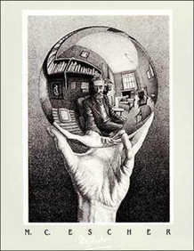 M.C. Escher Hand With Globe Thick Cardstock Poster - 19.5x27.5
