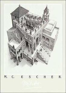 M.C. Escher Ascending And Descending Thick Cardstock Poster - 19.5x27.5