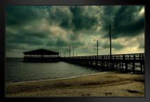 A Dark Pier Photo Art Print Framed Poster by ProFrames 20x14 inch