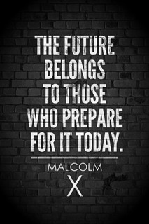 Laminated Malcolm X Future Belongs To Those Who Prepare Today Motivational Sign Poster 12x18 inch