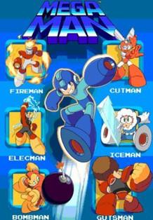 Mega Man Robot Video Game Series Characters Lenticular 3-D Poster - 11x17
