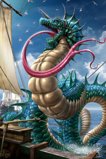 Leviathan Tom Wood Fantasy Art Mural Giant Poster 36x54 inch