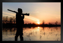 Hunter at Sunset Photo Art Print Framed Poster by ProFrames 20x14 inch