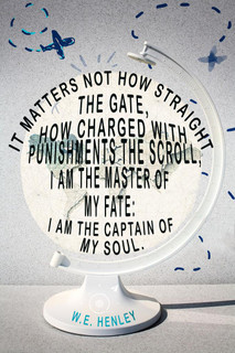 I Am the Master of My Fate and Captain of My Soul WE Henley Quote Poster 24x36 inch