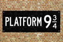 Laminated Train Platform 9 3/4 King Cross London Movie Sign Poster 18x12 inch