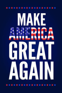 Laminated Make America Great Again Trump Campaign Sign Poster 12x18 inch
