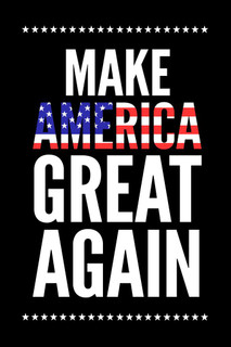 Laminated Make America Great Again Trump Flag Campaign Sign Poster 12x18 inch
