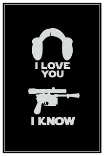 Laminated I Love You. I Know. Hair And Blaster Movie Sign Poster 12x18 inch
