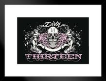 Dirty Thirteen Skull and Cherubs Art Print Matted Framed Poster by ProFrames 26x20 inch