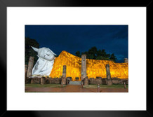 Wat Khun Inthra Pramun Temple Thailand Photo Art Print Matted Framed Poster by ProFrames 26x20 inch
