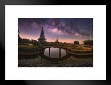 Twin Royal Pagodas Phra Mahathat Naphamethanidon Photo Art Print Matted Framed Poster by ProFrames 26x20 inch