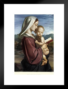 The Virgin Mother by William Dyce Art Print Matted Framed Poster by ProFrames 20x26 inch