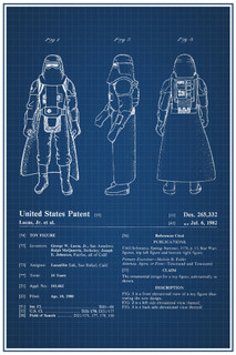 Hoth Stormtrooper Star Wars Movie Official Patent Blueprint Poster - 12x18