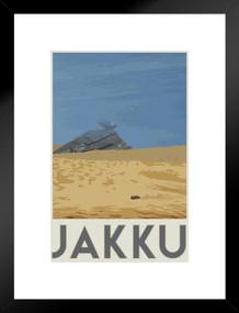 Jakku Movie Fantasy Travel Matted Framed Poster by ProFrames 20x26 inch
