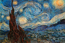 The Starry Night 1889 By Vincent Van Gogh Art Print Poster 36x24