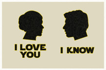 I Love You. I Know. Silhouettes Movie Poster - 12x18