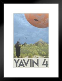 Yavin 4 Rebel Base Fantasy Travel Movie Matted Framed Poster by ProFrames 20x26 inch