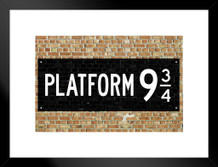 Train Platform 9 3/4 King Cross London Movie Matted Framed Poster by ProFrames 26x20 inch