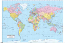 Carte Politique Du Monde World Map In French Educational Poster 36x24