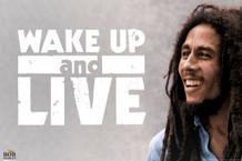 Bob Marley Wake Up and Live Poster 18x12