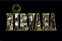 Nirvana Rock Band Logo Kurt Cobain Krist Novoselic Poster - 36x24