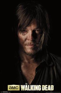 Walking Dead Daryl Shadow Portrait Closeup TV Show Poster 22x34