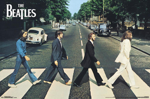 The Beatles Abbey Road Album Cover Music Poster 34x22 Image 1