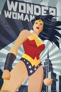 Wonder Woman Constructivism Retro Comic Book Art Print Poster 22x34