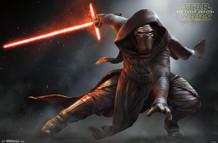 Star Wars The Force Awakens Stance Kylo Ren Movie Poster 34x22