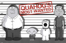 Family Guy Quahogs Most Wanted Television Series Cartoon Show Poster 36x24