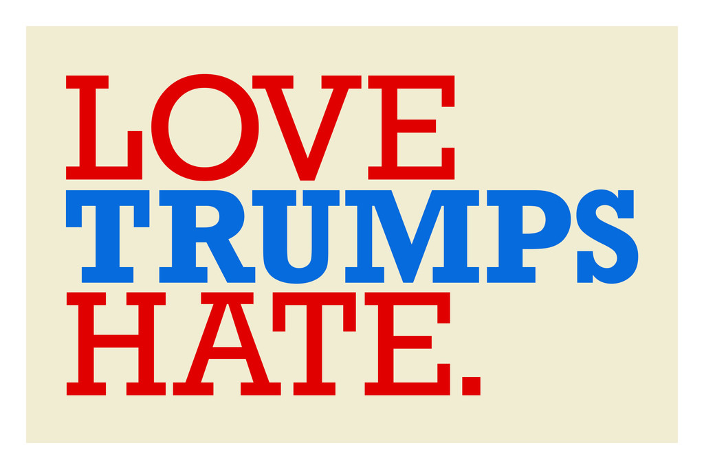 Love Trumps Hate Motivational Poster 12x18 Poster Foundry