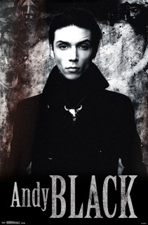 Andy Black Stone Black and White Music Poster 22x34