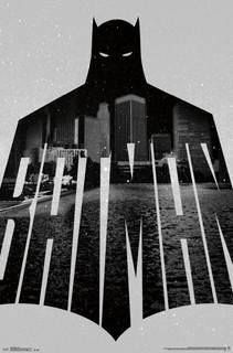 Batman Text Gotham City Comic Book Art Print Poster 22x34