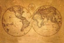 Old World Map Art Print Poster 36x24