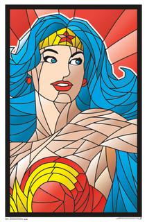 Wonder Woman Neon Retro Comic Book Art Blacklight Poster 22x34