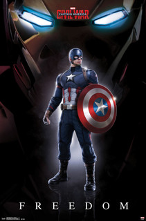 Captain America 3 Civil War Freedom Movie Poster 22x34