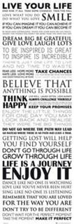 Live Your Life Motivational Door Poster 12x36