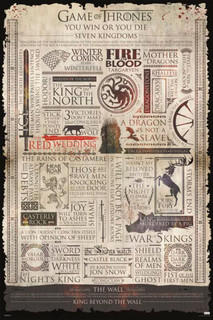 Game Of Thrones Infographic TV Show Poster 24x36