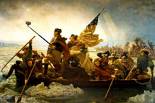 Washington Crossing the Delaware Selfie Art Humor Poster 36x24