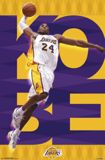 Los Angeles Lakers Kobe Bryant NBA Basketball Sports Poster 22x34