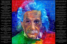 As Quoted By Einstein by David Lloyd Glover Quotes Art Print Poster 36x24
