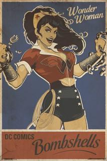 Wonder Woman Bombshell Comic Book Art Poster 24x36