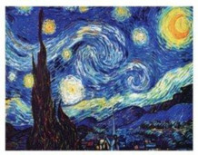 Vincent Van Gogh Starry Night Art Print Poster 24x20