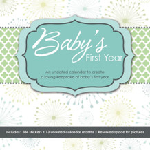 Babys First Year With Bonus Stickers 13 Month Undated Calendar 12x12