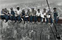 Lunch on a Skyscraper Color Poster 17x11