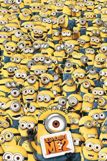 Despicable Me 2 Many Minions Movie Poster 24x36