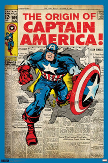 Captain America Cover Comic Book Poster 24x36