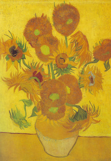 Vincent Van Gogh Vase With Fifteen Sunflowers Post Impressionist Painting Art Print Poster - 13x19